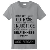 OUTRAGE 100% Cotton Ladies Tshirt