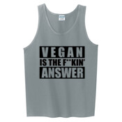 VEGAN IS THE FUCKING ANSWER Men's Tank-Top | Singlet